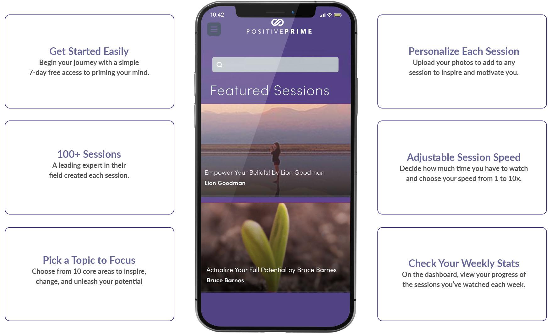 Positive Prime app screen